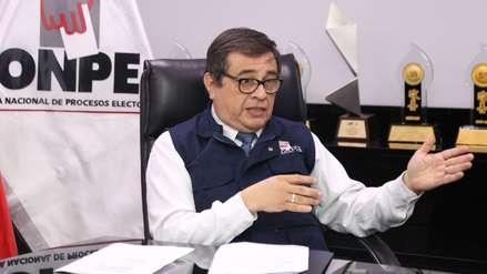 El Consejo Nacional de la Magistratura decidió suspender al jefe de la ONPE