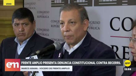 Frente Amplio presentó una segunda denuncia constitucional contra Héctor Becerril