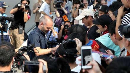Andrés Iniesta llegó a Japón para incorporarse al Vissel Kobe