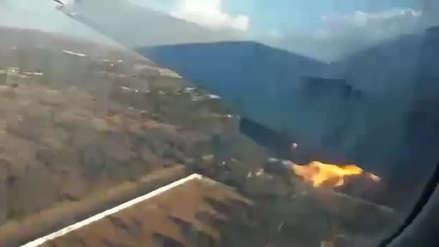 Video | Un pasajero grabó la caída del avión en el que viajaba