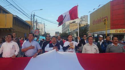 Lambayecanos marchan de forma masiva contra la corrupción