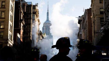 Explosión de tubería dejó cinco heridos y obligó a evacuar 28 edificios en Manhattan