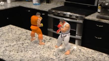 Las posibilidades de la realidad aumentada: Street Fighter en tu propia cocina