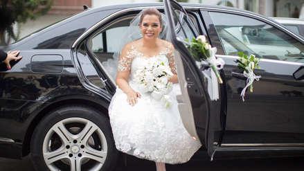 Milagros Leiva compartió fotos de su matrimonio con el empresario Johnny Garib Garib