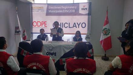 Más de 940 mil lambayecanos votarán en las elecciones regionales y municipales