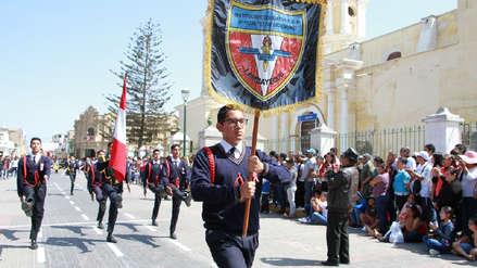 Lambayeque: colegios participaron en concurso escoltas, estado mayor y alegorías