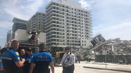 Colapso de edificio en Miami Beach dejó al menos un herido grave
