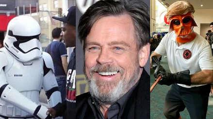 Comic-Con 2018: Mark Hamill se vistió de stormtrooper y parodió a Donald Trump