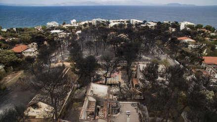 Una madre y su hijo murieron ahogados al querer escapar de los incendios en Grecia