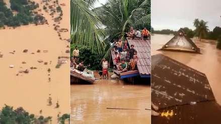 Varios muertos y cientos de desaparecidos por la rotura de una represa en Laos