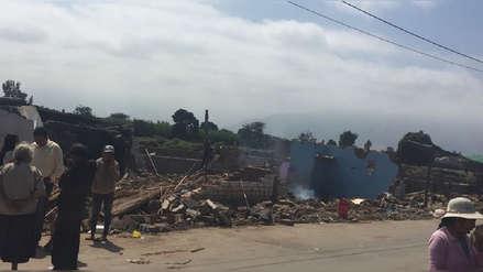 Familias perjudicadas por desborde de canal de riego en Virú