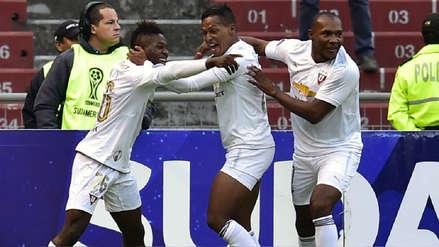 LDU venció 3-1 a Vasco da Gama en su duelo de ida por Copa Sudamericana