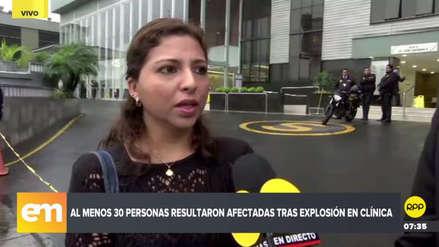 Explosiones en la Clínica Ricardo Palma: este es el testimonio de una de las sobrevivientes