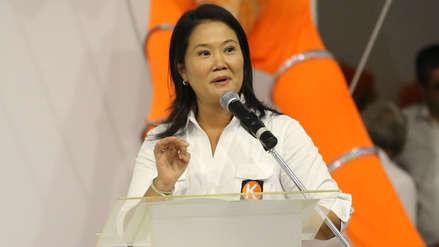 Keiko Fujimori felicitó a Fuerza Popular por integrar la Mesa Directiva del Congreso