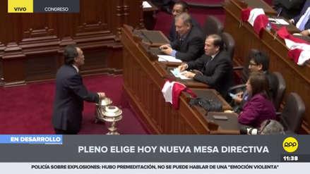 Becerril tuvo un altercado con los congresistas de izquierda durante la votación de la Mesa Directiva