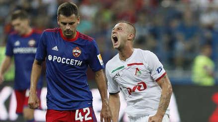 Con Jefferson Farfán en cancha, Lokomotiv cayó ante CSKA en la Supercopa de Rusia