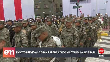 Parada militar: cierran la avenida Brasil para realizar el ensayo general