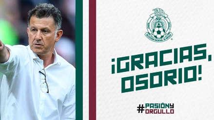 Juan Carlos Osorio no va más como director técnico de la Selección de México