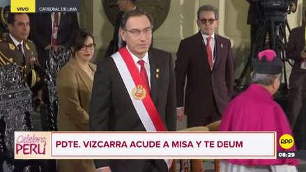 Martín Vizcarra participó en la Misa Solemene y Te Deum por Fiestas Patrias