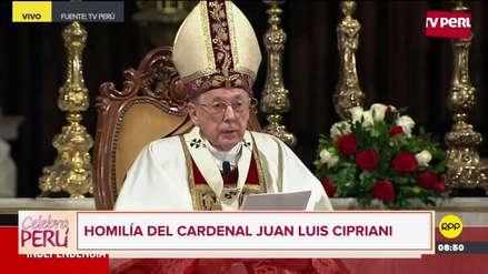 """Juan Luis Cipriani: """"El desafío moral que estamos afrontando nos exige construir puentes de diálogo"""""""