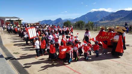 Niños derrochan peruanidad en desfile por Fiestas Patrias en Salas