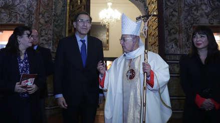 Pedro Barreto dio primera misa oficial como Cardenal con la presencia de Vizcarra