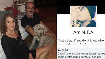 Jossie Lindley, esposa de Carlos Alcántara, respondió al usuario que insultó a su hijo