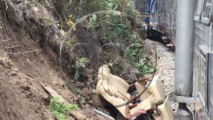 Las imágenes que dejó el choque de trenes en la vía Machu Picchu