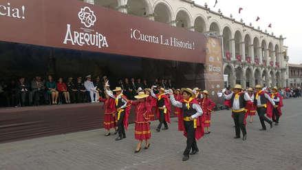 Video  | Con pasacalle iniciaron las celebraciones por el Aniversario de Arequipa