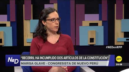 Glave consideró que Becerril vulneró la Constitución al intentar manipular el CNM