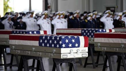 Los restos de los 55 soldados muertos en la Guerra de Corea llegaron a EE.UU.