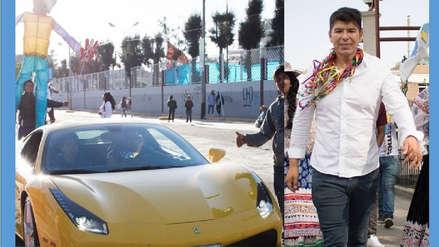 Denuncian por lavado de activos a candidato dueño de dos autos Ferrari