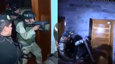 La Victoria | Así ingresó la Policía a la casa del alcalde y de otros presuntos miembros de la banda