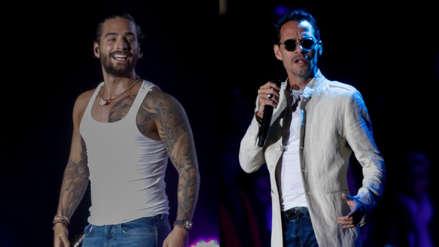 Marc Anthony y Maluma deslumbraron en el escenario del Estadio Monumental