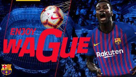 Barcelona confirmó el fichaje del senegalés Moussa Wague