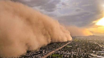Una gran tormenta de arena cubrió toda la ciudad de Phoenix