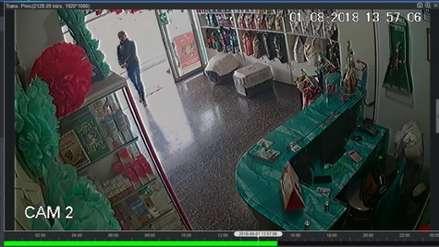 Cámaras de vigilancia graban a asaltantes de veterinaria en Trujillo