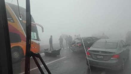Huaral: choque múltiple en la variante de Pasamayo dejó 14 heridos