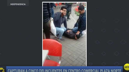 Video muestra la captura de cinco presuntos delincuentes en Plaza Norte