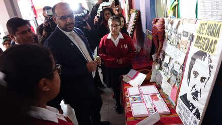 Ministro de Educación anunció campaña de valores para