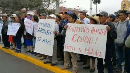 Reclaman construcción de nuevas aulas en colegio de Sánchez Carrión