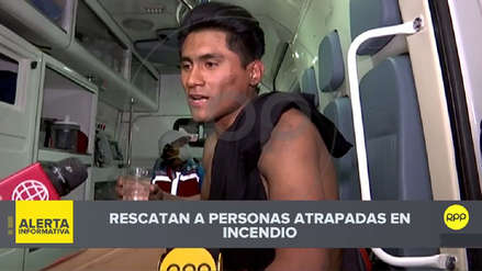 El estudiante que participó en el rescate de cuatro personas durante incendio en la Av. Abancay