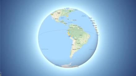 Google Maps le dice adiós al mapa plano de la Tierra