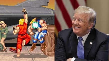 El diario oficial chino compara a Trump con un personaje de Street Fighter