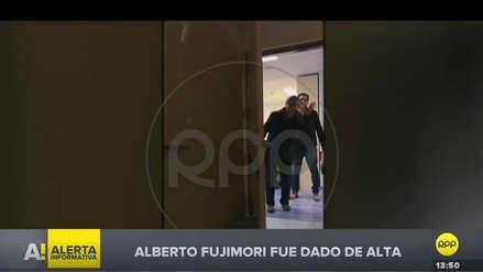 Alberto Fujimori fue dado de alta en clínica tras ser internado por un mal cardiaco