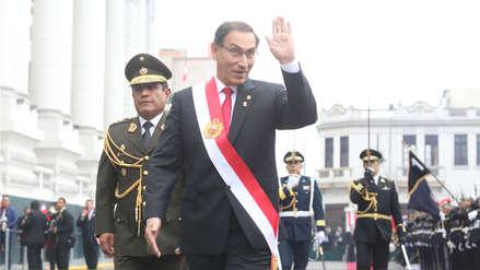Presidente Vizcarra llegó al Congreso para presentar proyectos de reforma política