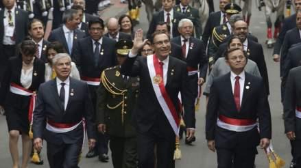 La popularidad de Martín Vizcarra subió diez puntos tras su discurso de 28 de julio, según Datum