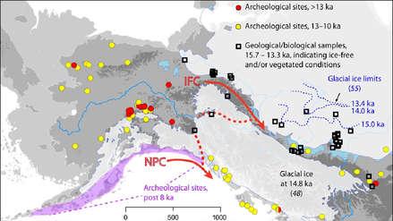 Estudio presenta dos rutas viables de entrada de primeros humanos en América