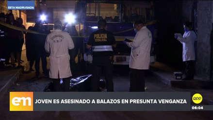Un joven fue asesinado de un balazo en la cabeza en El Agustino