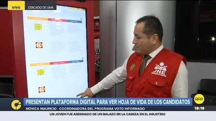 Plataforma Voto Informado permite conocer a los candidatos a elecciones municipales